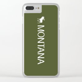 Montana: Moose (Mountain Green) Clear iPhone Case