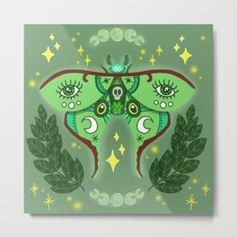 Lunar Moth Metal Print