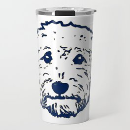 Goldendoodle dog face silhouette - perfect Golden doodle gift idea Travel Mug