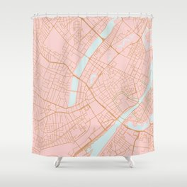 Copenhagen map Shower Curtain