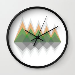 Mountain view #society6 #decor #buyart #artprint Wall Clock