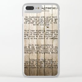 The Four Agreements 10 Clear iPhone Case