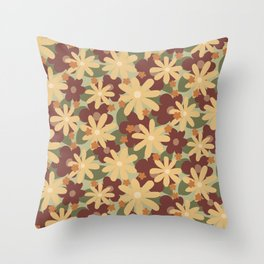 Lost In The Woods - Floral Camouflage pattern Throw Pillow