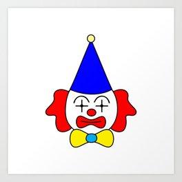 Clown - funny face. Art Print