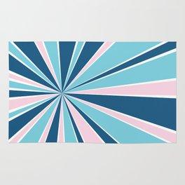 Starburst Pink and Blue Rug