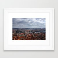 prague Framed Art Prints featuring Prague by T. Peters