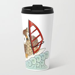 On the crest of a wave Travel Mug