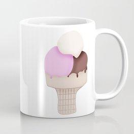 Neapolitan Ice Cream Cone Coffee Mug