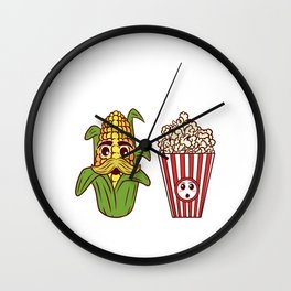Vegan Farm Vegetable Yellow Cooking Collection Father Corn Popcorn Seasoned Popped Snack Tee T-shirt Wall Clock