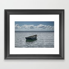 Maine Boat looking out to Sea Framed Art Print