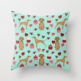 Vizsla valentines day dog breed gifts for dog lover unique dog pet portraits animal art Throw Pillow