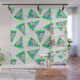 Teal Rainbow Pizza! Wall Mural