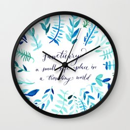 Sanctuary - Inspirational Quote Wall Clock