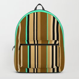 Mint brown stripe Backpack