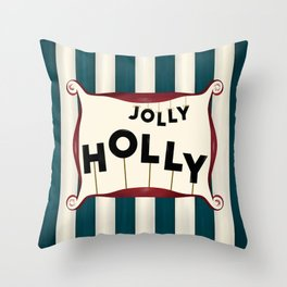 Holly jolly Throw Pillow