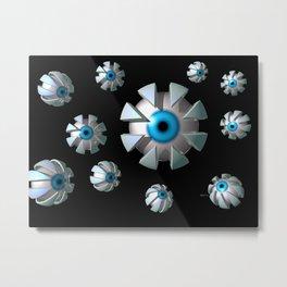 Eyes In Space Metal Print