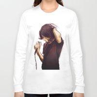 alex turner Long Sleeve T-shirts featuring alex turner [7] [humbug] by roanne Q