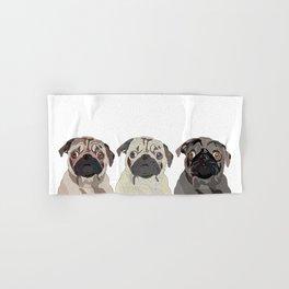 Triple Pugs Hand & Bath Towel