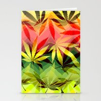 marijuana Stationery Cards featuring Marijuana by SpecialTees