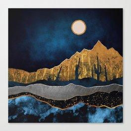 Midnight Desert Moon Canvas Print
