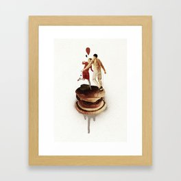These Burgers Are Crazy II    Collage Framed Art Print