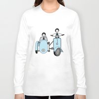 vespa Long Sleeve T-shirts featuring Vespa by flapper doodle
