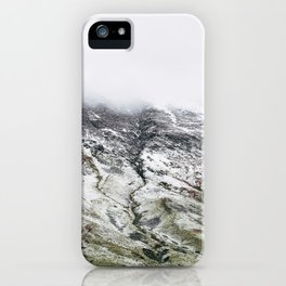 Littledale Edge and snow. Honister Pass, Cumbria, UK. iPhone Case