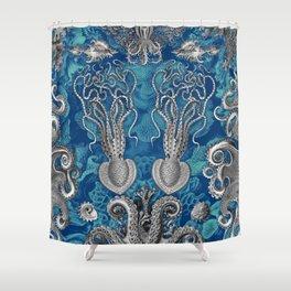 The Kraken (Blue - No Text, Alt.) Shower Curtain