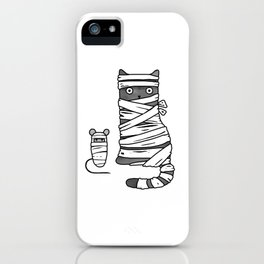 Mummy Cat & Mummy Mouse – Silent Horror iPhone Case