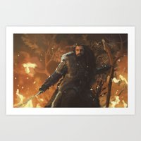 thorin Art Prints featuring Thorin by PrintsofErebor