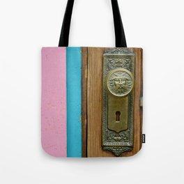 Doorknob Santa Tote Bag
