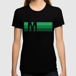 MN Logo - Green Stripes T-shirt