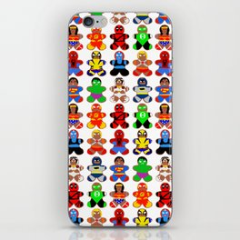 Superhero Gingerbread Man iPhone Skin