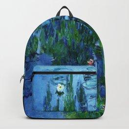 Claude Monets The Bridge in Monets Garden Backpack