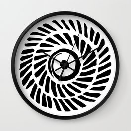 Circle of black and white lines Wall Clock