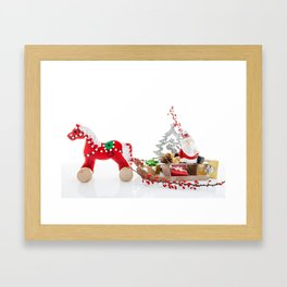 Santa Claus decor Framed Art Print