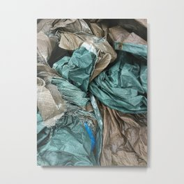Tarp Pile Metal Print