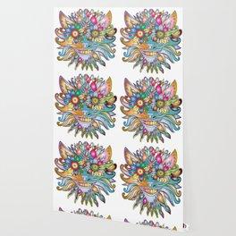 Anthropomorphic flower floral plant Wallpaper
