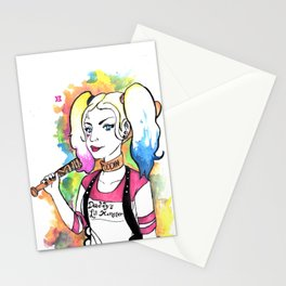 harley quinn.. Stationery Cards