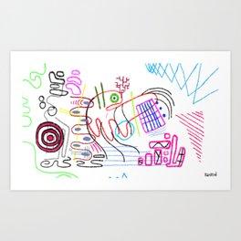4D Go-Kart Art Print