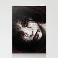 silent hill Stationery Cards featuring Silent Hill: Alessa Gillespie by hinterdemlicht