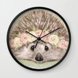 Sweet Hedgehog  Wall Clock