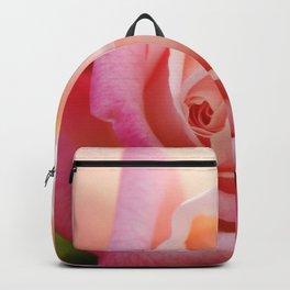 Expressive Pink Rose macro Backpack