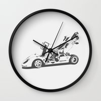ferrari Wall Clocks featuring Ferrari 512 by Remove Before . . .