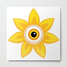 Flower Eye Design (Chlor Headshot) Metal Print