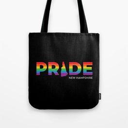 New Hampshire LGBTQ Pride (Black) Tote Bag