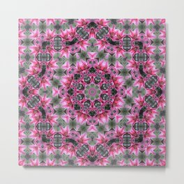KALEIDOSCOPE LILY STARGAZER SINGLE FLOWER Metal Print