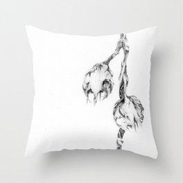 Paper Skull Lanterns (part of the Strange Plants series) Throw Pillow