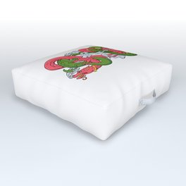 Twined Dragons Outdoor Floor Cushion