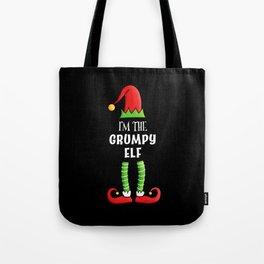 Grumpy Elf Family Group Christmas Gift Tote Bag